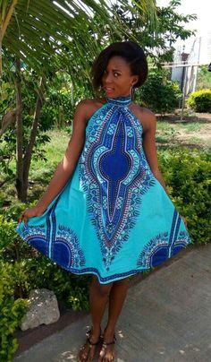 Robe dashiki robe ankara robe africaine robe dété par DashikiMe Plus