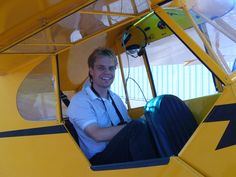 Flying in a j3piper cub.