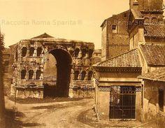 Arco di Giano. A destra la chiesa di San Giorgio al Velabro Anno: 1855