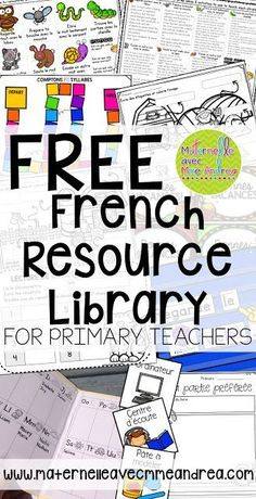 FREE French Resource Library for primary teachers!FREE French Resource Library for primary teachers! Learning French For Kids, Ways Of Learning, French Language Learning, Spanish Language, Learning Spanish, Learning People, Spanish Activities, German Language, Learning Cards