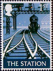 Royal Mail British 1st Class Postage Stamp 'The Station'
