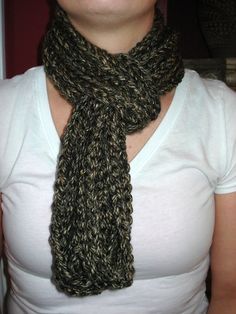 Brown & Tan infinity scarf Crochet chain by ClassicCreations2, $25.00