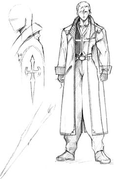 Week 8 - Final Fantasy VIII - Concept Art Mon - Seifer Almasy