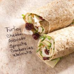 Lunch Box Love 9 Quick And Easy Ideas from Relish including Trukey Cranberry Wrap