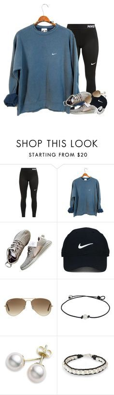 """random tag :)"" by kate-elizabethh ❤ liked on Polyvore featuring NIKE, Nike Golf, Ray-Ban, Mikimoto, NOVICA and country"