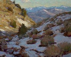 Snow Melt by Jean LeGassick Oil ~ 8 x 10
