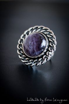 Astarte #ring #crystals #crystalmagic #witchaesthetic #WitchLysendiasCreations Crystal Magic, Victorian Steampunk, Witch, Handmade Jewelry, Silver Rings, Crystals, Antiques, Earrings, Style