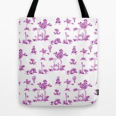 Purple Toile Unicorn Tote Bag by That's So Unicorny - $22.00