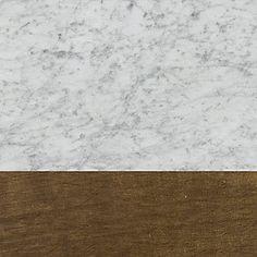 Honed Carrara Marble & Antiqued Brass