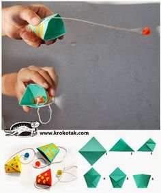 ORIGAMI Kalender 2019 + Anleitung, Crafting a tutorial paper remains a challenging, making an attempt, and overwhelming task Summer Crafts, Fun Crafts, Diy And Crafts, Arts And Crafts, Paper Crafts, Paper Games For Kids, Activities For Kids, Diy For Kids, Crafts For Kids