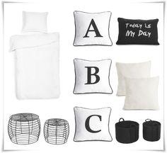 Keväällä 2014 Rillan Koti -blogiin pääsivät Hobby Hallin valikoiman musta-valkoiset sisustustuotteet.