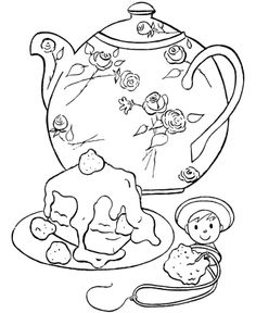google colering pages tea party coloring pages google search hand sewing embroidery