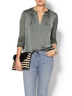 Vince Jersey Back Popover Top | Piperlime  | Olivia Palermo's Fall Lookbook 2014