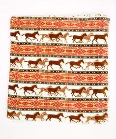 Another great find on #zulily! Coral Horse Adventure Fleece Throw Blanket #zulilyfinds