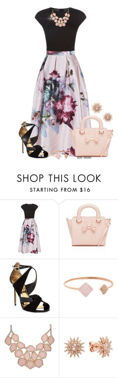 """Ted Baker Outfit."" by an-nao ❤ liked on Polyvore featuring Ted Baker, Michael Kors and Kenza Lee"