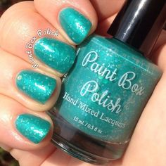 Last summer my sister-in-law Abbie was diagnosed with ovarian cancer, and I'm estatic to say that she is now cancer free! Ovarian cancer is a devastating disease that doesn't get enough attention.September is Ovarian Cancer Awareness month, and the color is teal. Paint Box Polish will be dontaing $3 from each bottle of this shimmery teal with iridescent glitter to UnTEAL There Is A Cure. This is a non-profit organization dedicated to raising funds for ovarian cancer research. ...