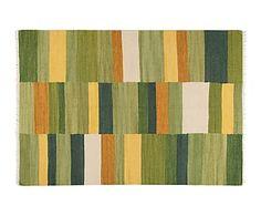 Alfombra de lana Tonum, verde - 160x230 cm