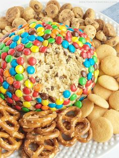 Monster cookie dough cheeseball dip has no eggs and no flour! Everything you love about monster cookies; oats, peanut butter, chocolate chips, and m&m's but in a fun and tasty cheeseball. Serve with pretzels, graham crackers, and cookies. I have been soooooo excited to share this monster cookie dough cheeseball dip with you all. Actually …