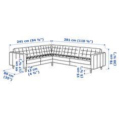 IKEA LANDSKRONA corner sofa, Removable armrests make it easy to add on a chaise longue. Grey Wood, Black Wood, Black Metal, White Wood, Fabric Sectional, Corner Sectional, Corner Sofa, Solid Pine, Solid Oak