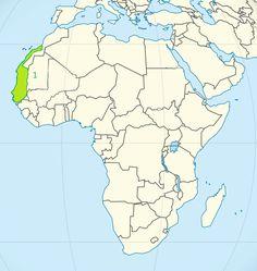 Niziny Afryki - mapa 1. Nizina Senegalu/Zachodnioafrykańska