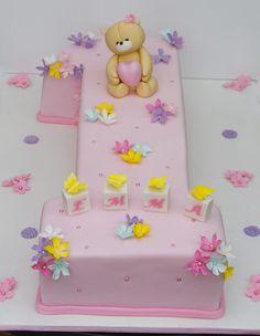 Forever friends bear birthday cake