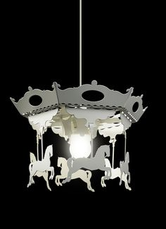 Carousel of ponies powder coated steel. www.laskowscydesign.pl