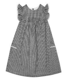 Another great find on #zulily! Black & White Check London Dress - Toddler & Girls #zulilyfinds