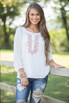 You've Been Wishing Blouse Ivory