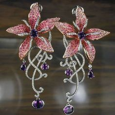Night Orchid Gala Earrings - Khoury Bros. Fine Jewelry