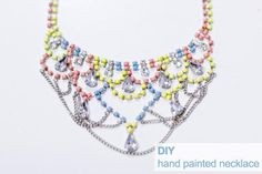 DIY Jewelry: DIY Jewelry: How to make a statement necklace
