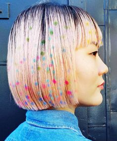 Hair Stenciling | Stenciling your hair is the newest color craze. #refinery29 http://www.refinery29.com/2016/05/111366/hair-stenciling