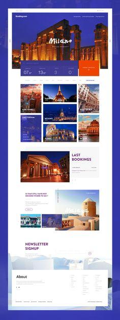Redesign concepts for popular websites 3 — Muzli -Design Inspiration — Medium 420242208959928545 Minimal Web Design, Web Ui Design, Blog Design, Design Ideas, Travel Website Design, Travel Design, Interface Web, Interface Design, Website Layout
