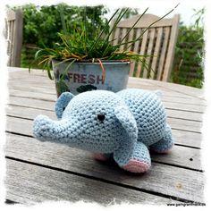 Hæklet elefant ❤️