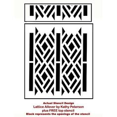 The Lattice Allover Stencil pattern is a part of the Designer Stencil series by Kathy Peterson from Cutting Edge Stencils. http://www.cuttingedgestencils.com/lattice-stencil-pattern-kathy-peterson.html