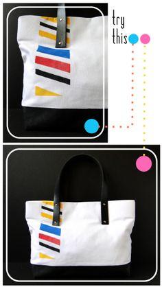 Plastidipped Tote Bag Tutorial - by Mandy Pellegrin
