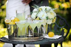 Heavenly Blooms: Great Gatsby Inspired Wedding - White, Butter Yellow and Grey