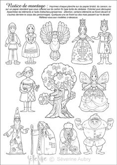 """iColor """"Little Kids Around The World"""" Paper Puppets, Paper Toys, Paper Crafts, Fairy Tale Projects, School Coloring Pages, Paper People, Kids Around The World, Circle Art, Love Fairy"""