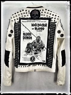 """Dr. Blood"" jacket from Chad Cherry by Chad Cherry Clothing."
