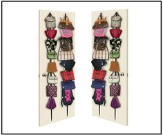 5 Handbag Storage Idea's ~ Sweet Days of Girlie Bag Rack, Purse Organization, Organizing Purses, Organization Skills, Organisation Hacks, Handbag Storage, Buy Bags, Sweetest Day, Wall Racks