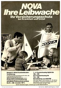 Original-Werbung/ Anzeige 1969 - NOVA VERSICHERUNG - ca. 130 x 200 mm