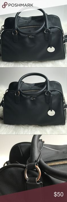 Lacoste Women's Black Daily Classic Bowling Bag Used- condition as shown in description photos. Perfect for day to day carrying. Authentic Lacoste classy Bag. Lacoste Bags Shoulder Bags