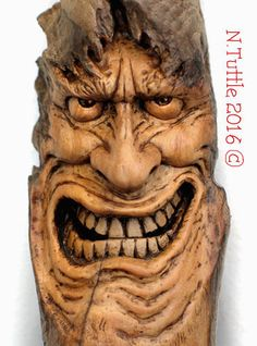 """""""NOW!...Right Now"""" 6 inches tall and 2½ inches across his greatest width. Signed and dated: N. Tuttle 3/13/16"""