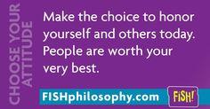 #ChooseYourAttitude #FISHPhilosophy #Propellergirl fishphilosophy…