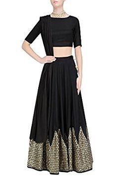 Prathyusha Garimella presents Black chevron sequins embroidered lehenga set available only at Pernia's Pop Up Shop. Lehenga Skirt, Lehenga Choli, Anarkali, Saree, Pakistani Outfits, Indian Outfits, Indian Clothes, Plus Size Lehenga, Bridal Lehenga Online