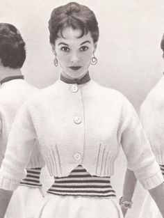 Vintage 50s KNITTED SWEATER PATTERN Spencer Jacket, Shortie, Bolero Perky Style. $6.00, via Etsy.