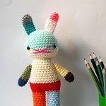 crochet toy amigurumi rabbit doll rainbow .. underpants rabbit 2 - by rosieok on madeit