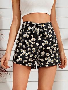 ((Affiliate Link)) Description Style:	Boho Color:	Black Pattern Type:	Floral, All Over Print Details:	Zipper, Tie Front Type:	Wide Leg Season:	Summer Composition:	100% Polyester Material:	Polyester Fabric:	Slight Stretch Sheer:	No Fit Type:	Regular Waist Type:	High Waist Closure Type:	Zipper Fly