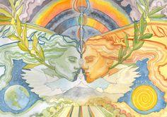 Soul Mates Art Print par PearlWhitecrow sur Etsy