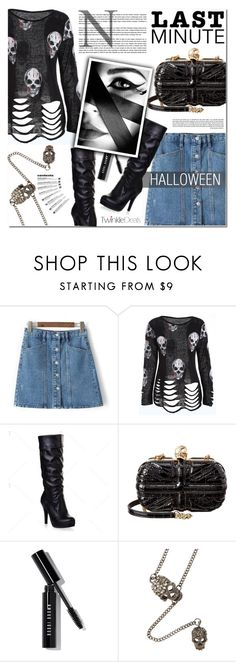 """SKULL"" by nanawidia ❤ liked on Polyvore featuring Alexander McQueen, Bobbi Brown Cosmetics, GE, skull, halloweencostume and twinkledeals"