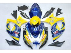 501.27$  Watch now - http://aliu1b.worldwells.pw/go.php?t=1227623248 - For Suzuki GSX-R 600/750 2006-2007 K6 Injection ABS Fairing Corona Blue Yellow 501.27$